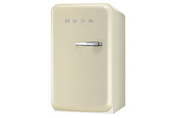 Smeg 50s Retro Style Mini Left Hinge Cream Refrigerator - FAB5ULP