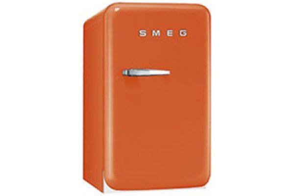 Smeg 50s Retro Style Mini Orange Refrigerator - FAB5URO