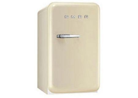 Smeg 50s Retro Style Mini Right Hinge Cream Refrigerator - FAB5URP