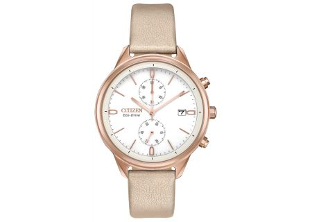Citizen Eco-Drive Chandler Pink Gold-Tone Womens Watch - FB2003-05A