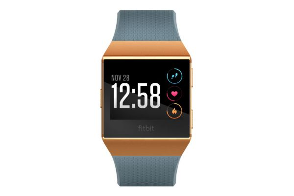 Large image of Fitbit Ionic Slate Blue And Brunt Orange Fitness Watch - FB503CPBU