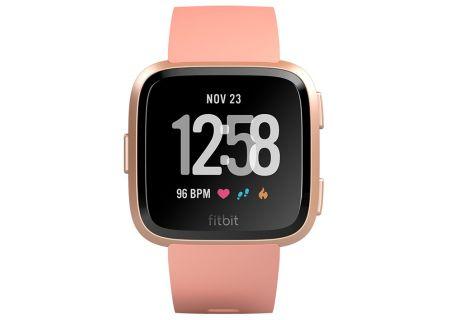 Fitbit Versa Peach & Rose Gold Aluminum Smartwatch - FB504RGPK