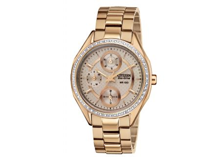 Citizen Eco-Drive POV 2.0 Rose Gold Tone Stainless Steel Womens Watch - FD1063-57X