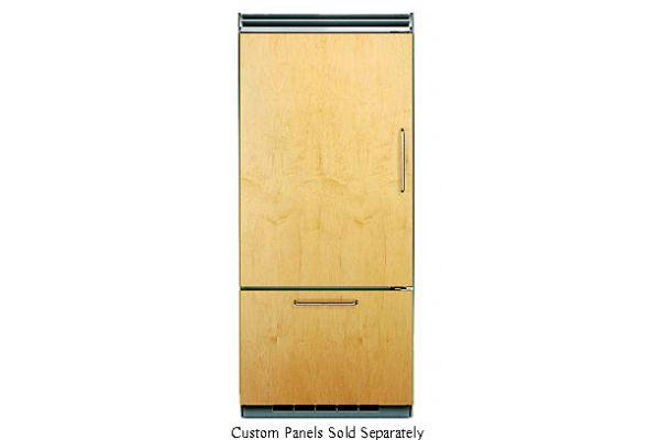 "Large image of Viking Quiet Cool 5 Series 36"" Custom Panel Left-Hinge Built-In Bottom-Freezer Refrigerator - FDBB5363EL"