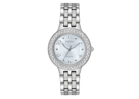 Citizen Eco-Drive Silhouette Crystal Stainless Steel Womens Watch  - FE2080-56L