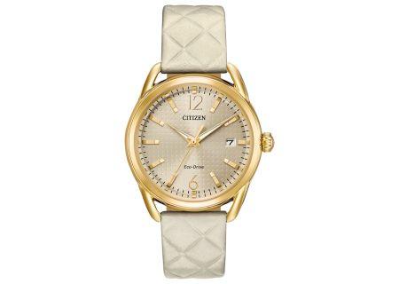Citizen Eco-Drive LTR Gold-Tone Womens Watch - FE6082-08P
