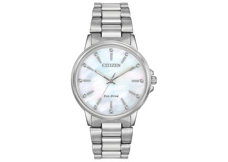 Citizen Eco-Drive Chandler Silver-Tone Stainless Steel Womens Watch - FE7030-57D