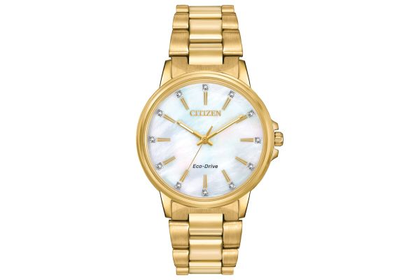 Citizen Eco-Drive Chandler Gold-Tone Stainless Steel Womens Watch - FE7032-51D