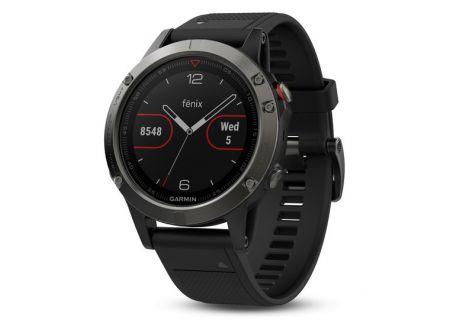 Garmin 47mm Fenix 5 Slate Gray And Black Band GPS Running Smartwatch - 010-01688-00