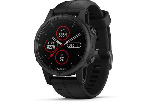 Garmin 42mm Fenix 5S Plus Black GPS Multisport Smartwatch - 010-01987-02