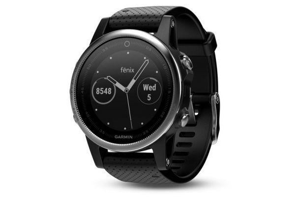 Garmin 42mm Fenix 5S Silver And Black Band GPS Running Smartwatch - 010-01685-02