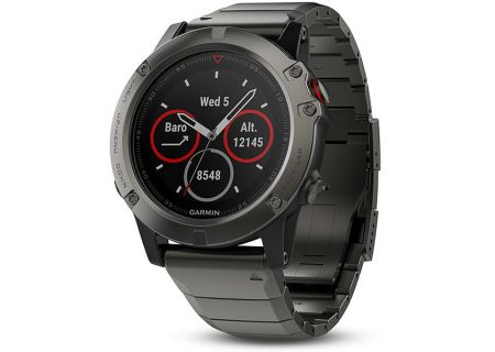 Garmin 51mm Fenix 5 Slate Gray Sapphire With Metal Band GPS Multisport Smartwatch - 010-01733-04