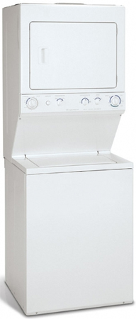 """Frigidaire Stacked Washer Dryer Combo Frigidaire 27"""" Electric Stack Washer Dryer Combo ..."""