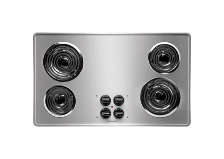 "Frigidaire 36"" FFEC3605 Brushed Chrome Electric Cooktop - FFEC3605LS"