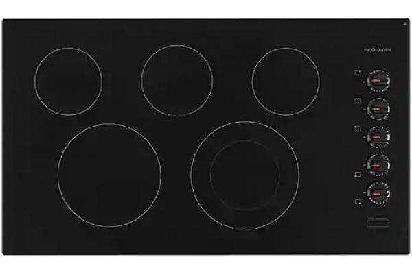"Large image of Frigidaire 36"" Black Electric Cooktop - FFEC3625UB"