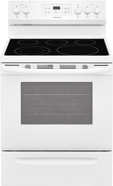 Frigidaire Electric Cooktop ~ Frigidaire quot white electric range ffef tw