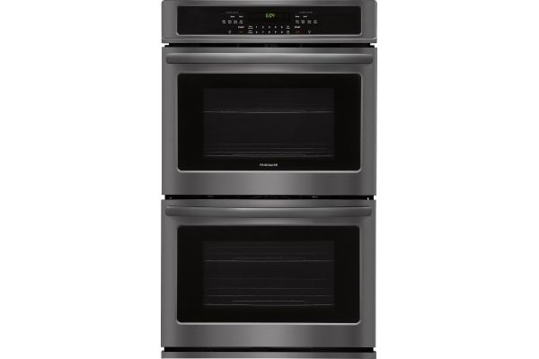 """Large image of Frigidaire 30"""" Black Stainless Steel Double Wall Oven - FFET3026TD"""