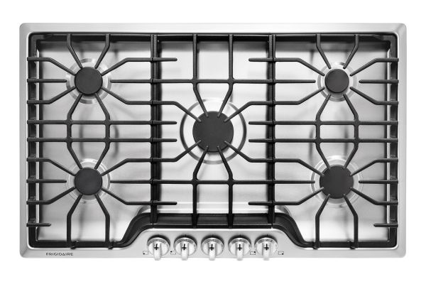 """Large image of Frigidaire 36"""" Stainless Steel Gas Cooktop - FFGC3626SS"""