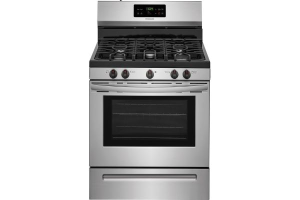 """Large image of Frigidaire 30"""" Stainless Steel Freestanding Gas Range - FFGF3054TS"""