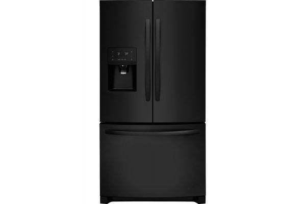 Large image of Frigidaire 26.8 Cu. Ft. Ebony Black French Door Refrigerator - FFHB2750TE