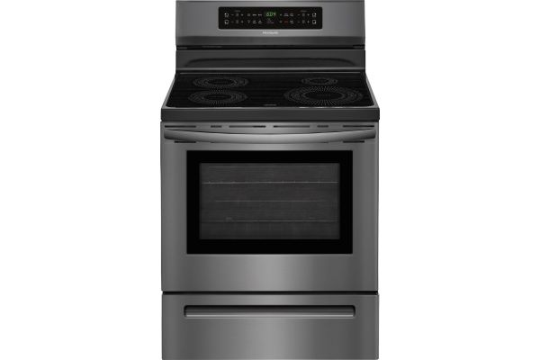 """Large image of Frigidaire Gallery 30"""" Black Stainless Steel Induction Range - FFIF3054TD"""