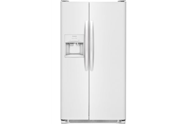 Large image of Frigidaire 25.5 Cu. Ft. Pearl White Side-By-Side Refrigerator - FFSS2615TP