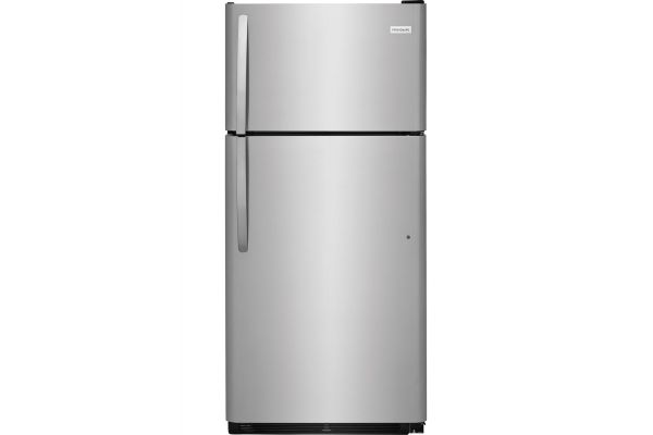 Large image of Frigidaire 18 Cu. Ft. Stainless Steel Top Freezer Refrigerator - FFTR1821TS
