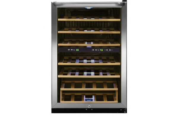 Large image of Frigidaire 38 Bottle Stainless Frame Two-Zone Wine Cooler - FFWC3822QS