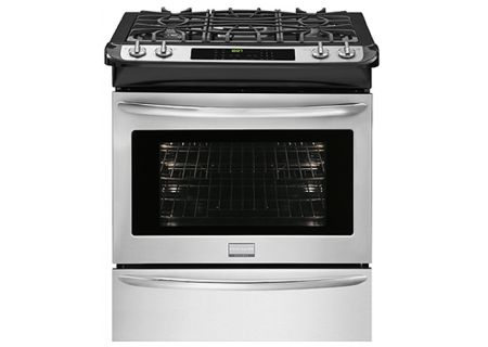 """Frigidaire Smudge-Proof Stainless Gallery 30"""" Slide-In Dual Fuel Range - FGDS3065PF"""