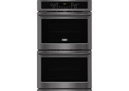 "Frigidaire Gallery 30"" Black Stainless Steel Double Electric Wall Oven - FGET3065PD"