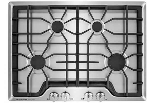 """Large image of Frigidaire Gallery 30"""" Smudge-Proof Stainless Gas Cooktop - FGGC3045QS"""
