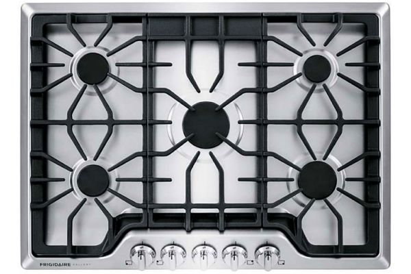 """Frigidaire Gallery 30"""" Smudge-Proof Stainless Gas Cooktop - FGGC3047QS"""