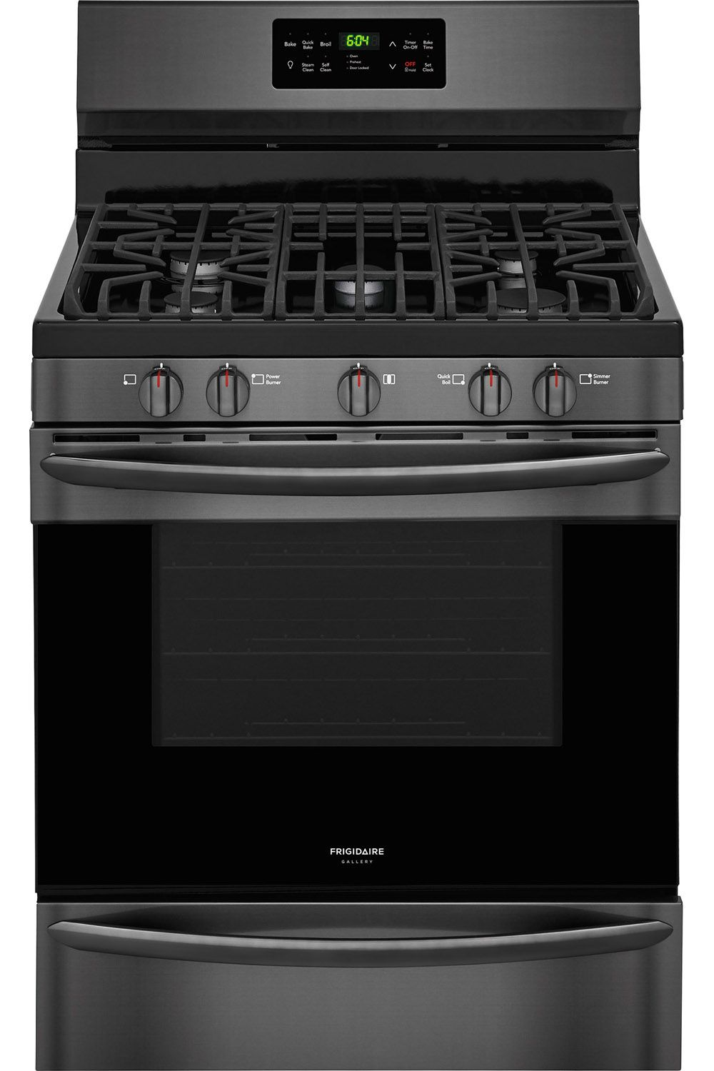 Frigidaire 30 Quot Black Stainless Gas Range Fggf3036td