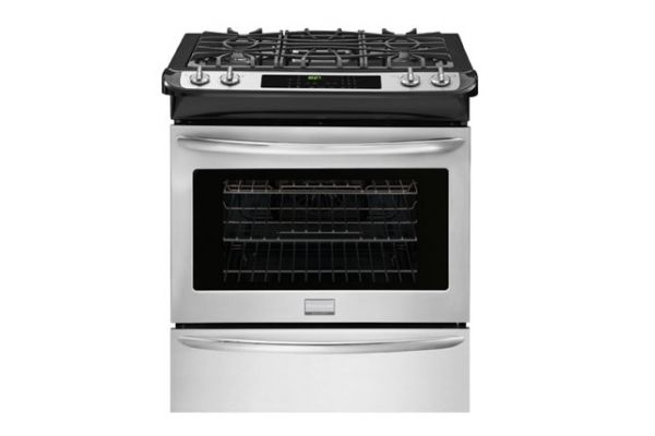 """Large image of Frigidaire Gallery 30"""" Smudge-Proof Stainless Slide-In Gas Range - FGGS3065PF"""