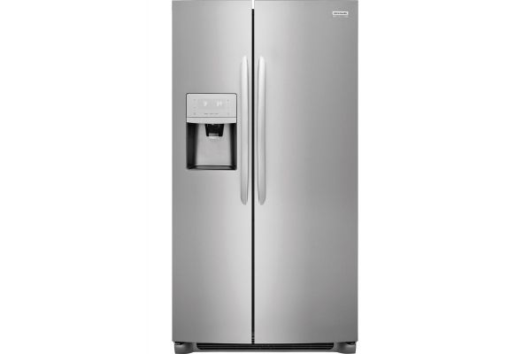 Large image of Frigidaire Gallery 25.5 Cu. Ft. Smudge-Proof Stainless Steel Side-By-Side Refrigerator - FGSS2635TF