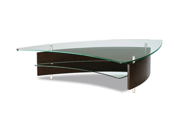 Large image of BDI Fin Espresso Stained Oak Coffee Table - FIN1106ES