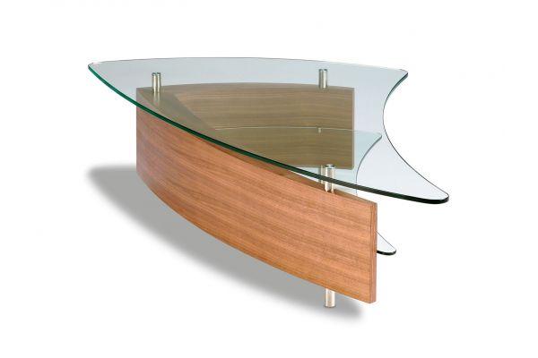 Large image of BDI Fin 1106 Natural Walnut Coffee Table - FIN1106WL