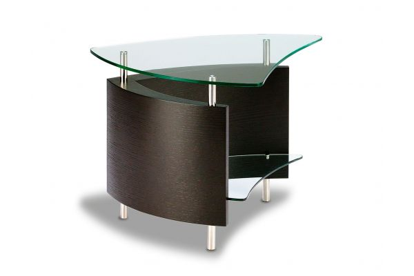 Large image of BDI Fin 1110 Espresso Stained Oak End Table  - FIN1110ES