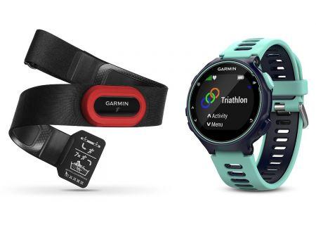 Garmin Forerunner 735XT Midnight Blue & Frost Blue Running Smartwatch with HRM - 010-01614-13