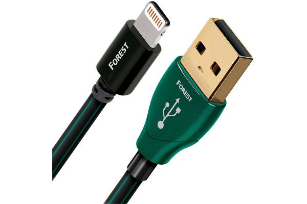 Large image of AudioQuest Forest 2.5 Feet Lightning Cable - FORESTLIGHTNINGPOINT75M