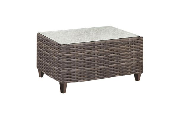 Forever Patio Aberdeen Brown Wicker Coffee Table - FP-ABE-CT-RYE