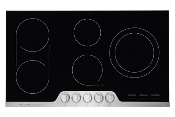 """Large image of Fridgidaire Professional 36"""" Stainless Steel Electric Cooktop  - FPEC3677RF"""