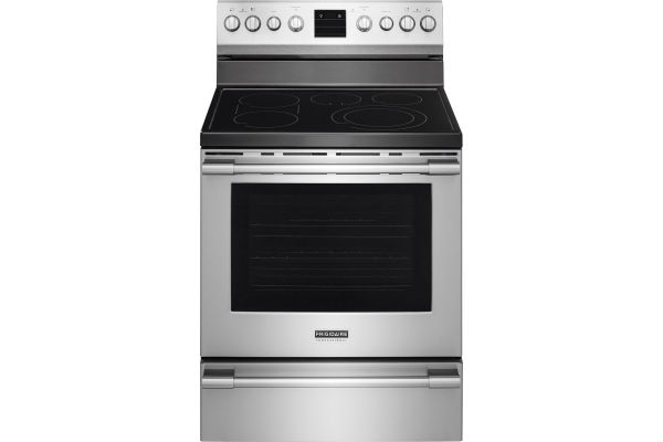 """Large image of Frigidaire Professional 30"""" Smudge-Proof Stainless Steel Freestanding Electric Range - FPEF3077QF"""