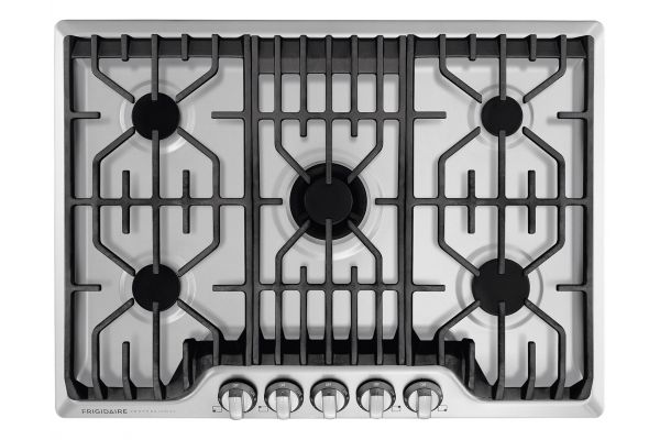 """Large image of Frigidaire Professional 30"""" Stainless Steel Gas Cooktop - FPGC3077RS"""
