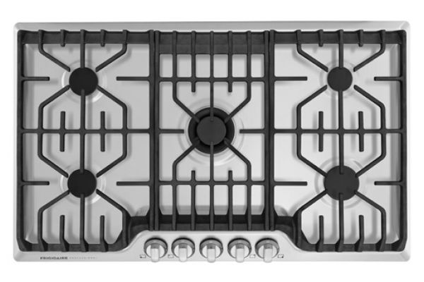 """Large image of Fridgidaire Professional 36"""" Stainless Steel Gas Cooktop With Griddle - FPGC3677RS"""