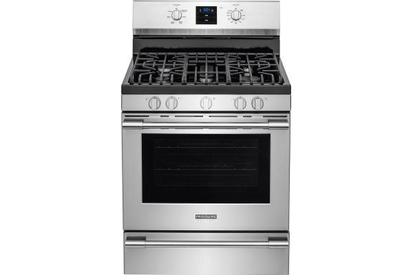 """Large image of Frigidaire Professional 30"""" Smudge-Proof Stainless Steel Freestanding Gas Range - FPGF3077QF"""
