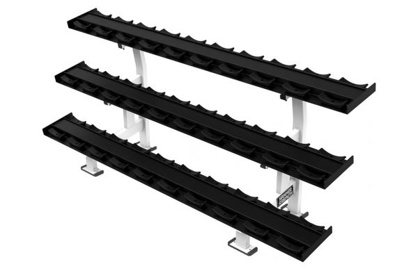 Large image of Life Fitness Hammer Strength Three Tier Dumbbell Rack  - FWDR3