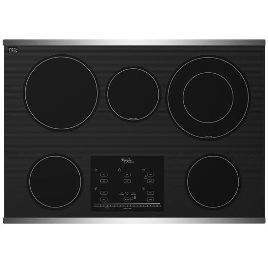 Whirlpool Electric Glass Cooktop ~ Whirlpool quot electric ceramic glass cooktop g ce xs