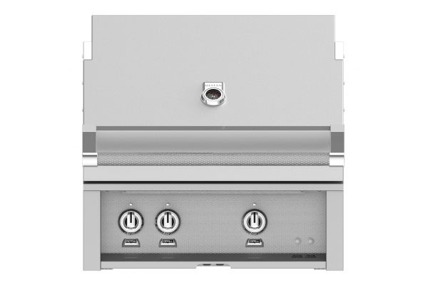 "Hestan 30"" Stainless Steel Built-In Trellis Burner Rotisserie Natural Gas Grill  - GABR30-NG"