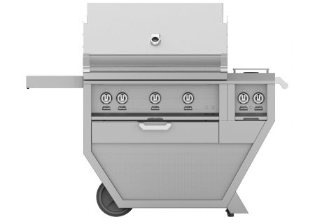 "Hestan 36"" Stainless Steel Deluxe Natural Gas Grill With Double Side Burner - GABR36CX2-NG"